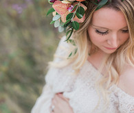 Flower crown maternity photos