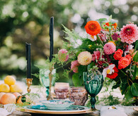 Fall bohemian tablescape