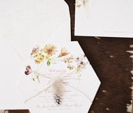 Fall bohemian wedding invitation