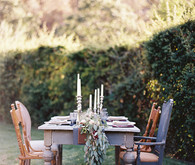 Fall bohemian wedding tablescape