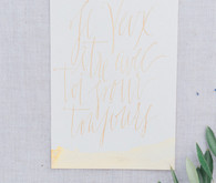 Gold calligraphy invitation