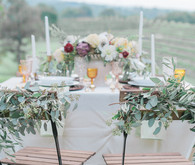 Georgia winery wedding tablescape
