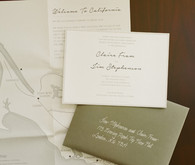 Ranch wedding invitation suite