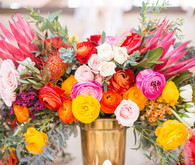 bright floral arrangement