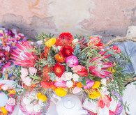 bright modern floral arrangement