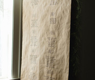 Craft paper escort card signage