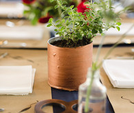 DIY copper tin can centerpieces