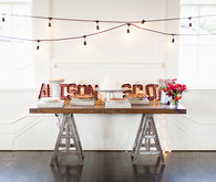 Rustic pie table