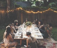 Bohemian outdoor tablescape