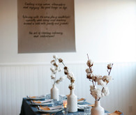 Simple rustic tablescape