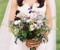 Organic summer bridal bouquet