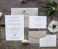 Winter Colorado wedding invitation