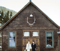 Snowy Colorado wedding