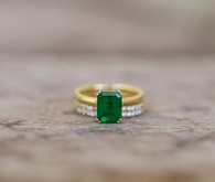 Emerald wedding ring