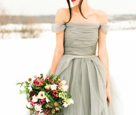 Grey Sarah Nouri wedding dress