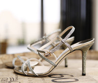 Silver bridal shoes