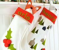 DIY felt stocking tutorial with Walnut Animal Society