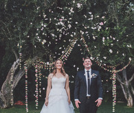Whimsical ceremony garland