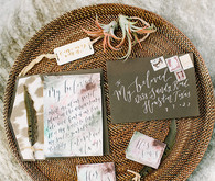 Bohemian elopement invitations