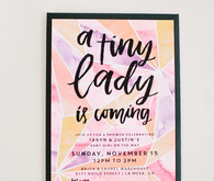 Baby shower invite by Twinkle and Toast