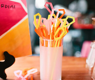 geometric bright drink stirrers