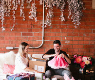 modern girls baby shower