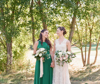 Green bridesmaid dress