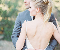 Modern bridal ponytail