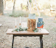 Modern outdoor cake display