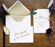 Christmas wedding invitation