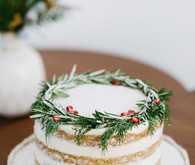 Holiday naked cake
