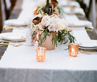 Copper and white winter wedding