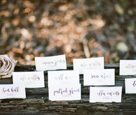 Rustic escort cards