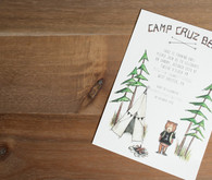 wintery camp themed birthday