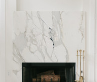 Marbled fireplace