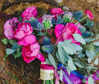 Jewel toned bridal bouquet