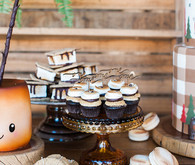 Camping party dessert table