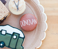 Camping themed cookies