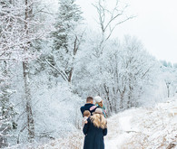 Snowy Utah family photos