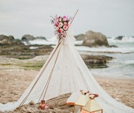 boho wedding teepee