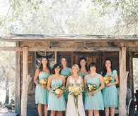 Aqua Jcrew bridesmaid dresses