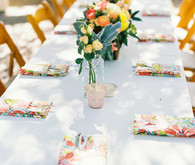 Colorful california wedding
