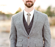Tweed groom suit