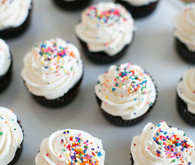 Sprinkled cupcakes