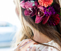 Floral hairstyle