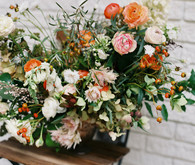 wild orange floral arrangement