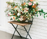 gorgeous wild floral arrangement