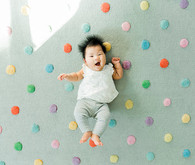 baby photos with polka dots