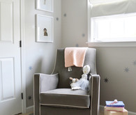 pink and grey girls room