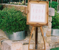 Vintage frame seating chart
